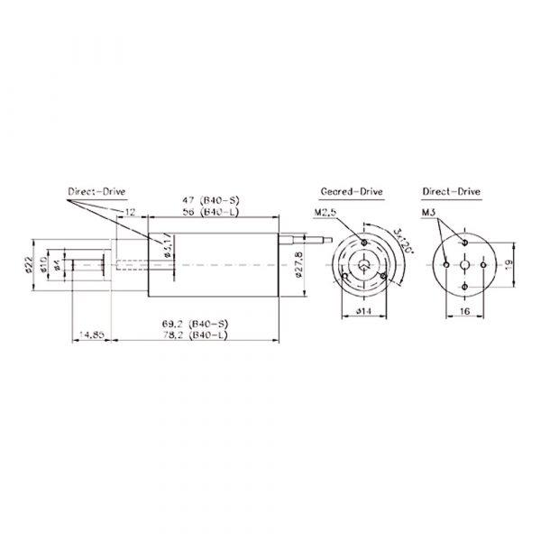 موتور براشلس Hacker B40-21L