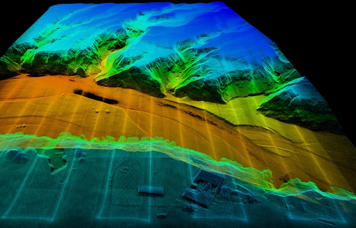 مشاهده نقشه سهبعدی با دوربین لیدار Zenmuse L1